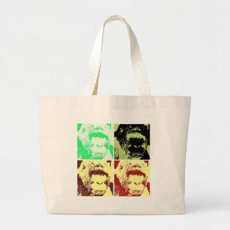 Pop Art Gorilla Faces Jumbo Tote Bag
