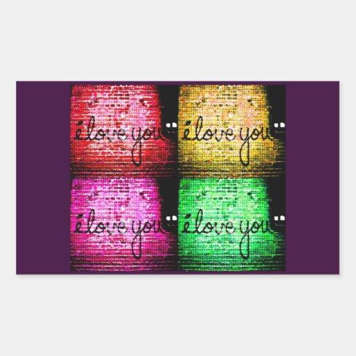 Pop Art Graffiti Love Wall Rectangle Sticker