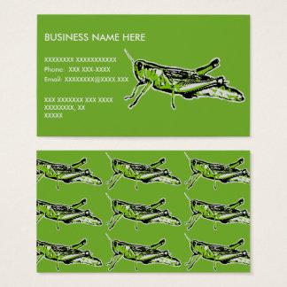 Pop Art Green Grasshopper Business Card