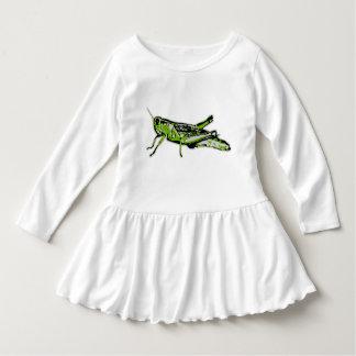 Pop Art Green Grasshopper Dress