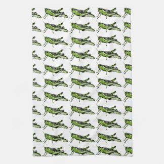 Pop Art Green Grasshopper Tea Towel