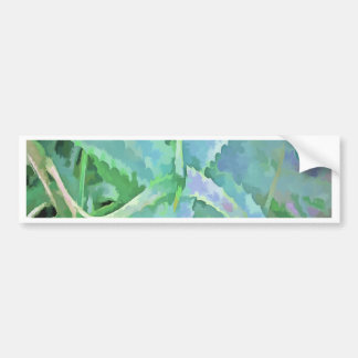 Pop Art Grey Green Aloe Bumper Sticker