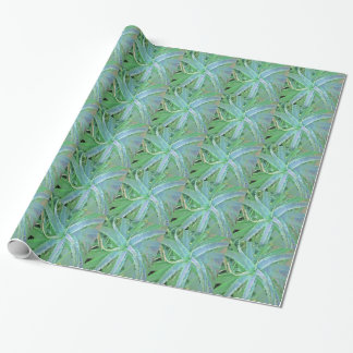 Pop Art Grey Green Aloe Wrapping Paper