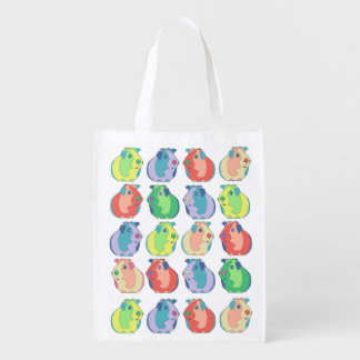 Pop Art Guinea Pig Pattern Reusable Grocery Bag