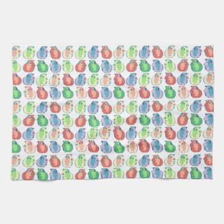 Pop Art Guinea Pig Pattern Tea Towel