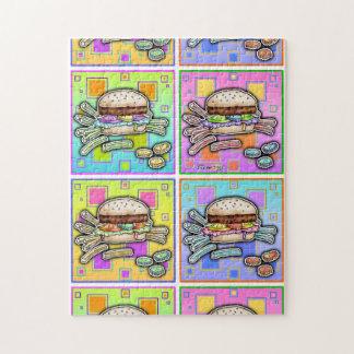 Pop Art HAMBURGER PUZZLE