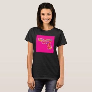 Pop Art Handgun Image T-Shirt