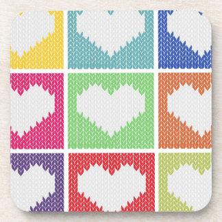 Pop art heart ornament coaster