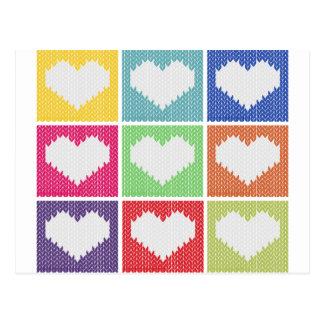 Pop art heart ornament postcard