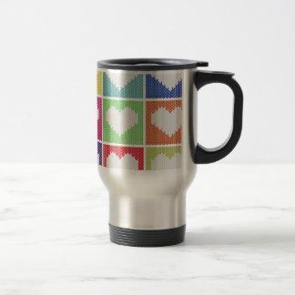 Pop art heart ornament travel mug