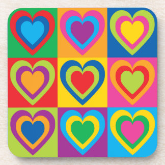 Pop Art Hearts Coaster
