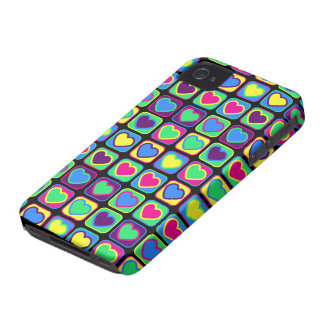Pop art hearts Custom BlackBerry Bold Cases