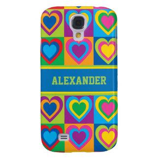 Pop Art Hearts Galaxy S4 Cases