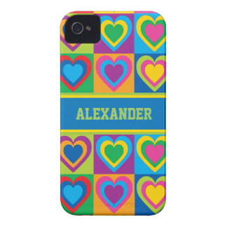 Pop Art Hearts iPhone 4 Case-Mate Cases