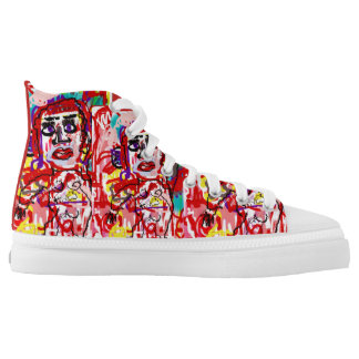Pop Art Hives Urticaria High Tops by Katie Pfeiffe