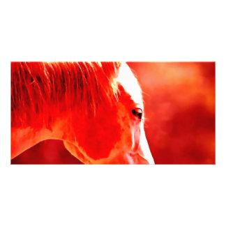 Pop Art Horse Head Picture Card