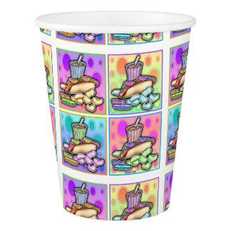POP ART HOT DOGS PAPER CUP