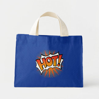 Pop Art HOT! Text Design Mini Tote Bag