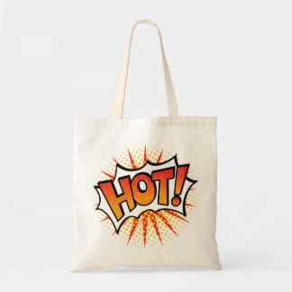 Pop Art HOT! Text Design Tote Bag