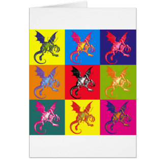 Pop Art Jabberwocky Full Colour Greeting Card