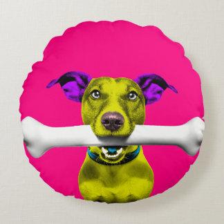 Pop Art Jack Russell Dog Round Cushion