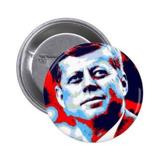 Pop Art JFK John F. Kennedy Red Blue 6 Cm Round Badge