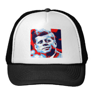 Pop Art JFK John F. Kennedy Red Blue Cap