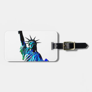 Pop Art Lady Liberty Luggage Tag