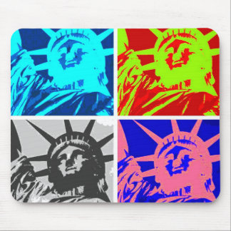 Pop Art Lady Liberty New York City Mouse Pads