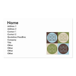 Pop Art Laying Bricks Business Card Template