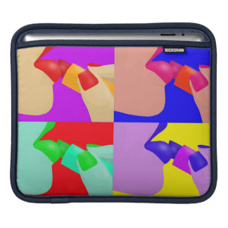 Pop art lips and lipstick iPad sleeves