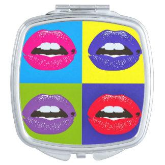 Pop Art Lips Mirror Travel Mirror