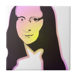 Pop Art Lisa Ceramic Tile