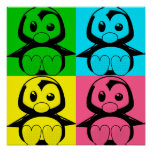 Pop Art Little Tux Penguin Poster