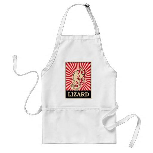 Pop Art Lizard Aprons