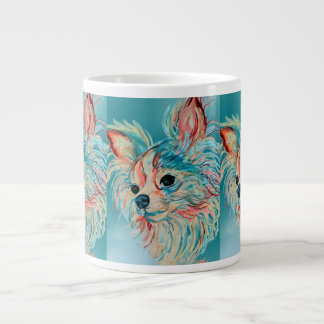 Pop Art Long Haired Chihuahua Mug