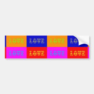 Pop Art Love Car Bumper Sticker