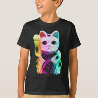 Pop Art Lucky Cat - Maneki Neko T-Shirt