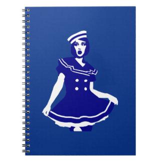 Pop Art - Maritime sexy Seemannsbraut Spiral Note Books