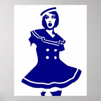 Pop Art - Maritime sexy Seemannsbraut Posters