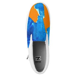 Pop Art Moab Falling Rocks Artist designed sneaker Slip On Shoes