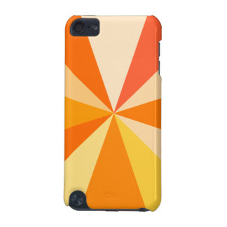 Pop Art Modern 60s Funky Geometric Rays in Orange iPod Touch 5G Cover