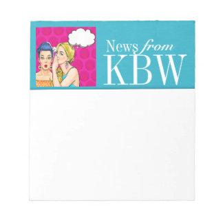 Pop Art Monogram Note Pad