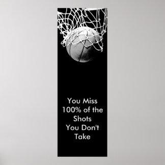 Pop Art Motivational Quote Basketball Poster