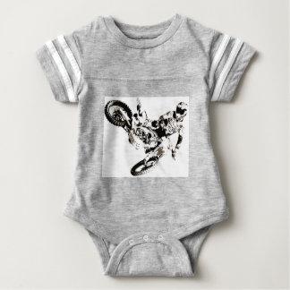 Pop Art Motocross Motorcyle Sport Baby Bodysuit