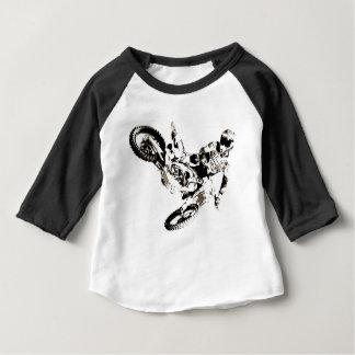 Pop Art Motocross Motorcyle Sport Baby T-Shirt