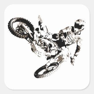 Pop Art Motocross Motorcyle Sport Square Sticker