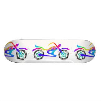 Pop Art MOTORCYCLE Skateboard