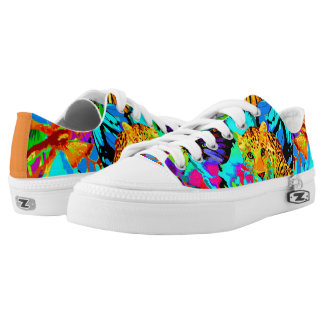 Pop Art Nature Top Shoes, US Men 4 / US Women 6 Low Tops