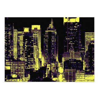 Pop Art New York City Invitation